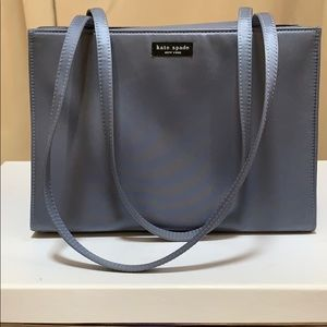 Gray Fabric Kate Spade Purse